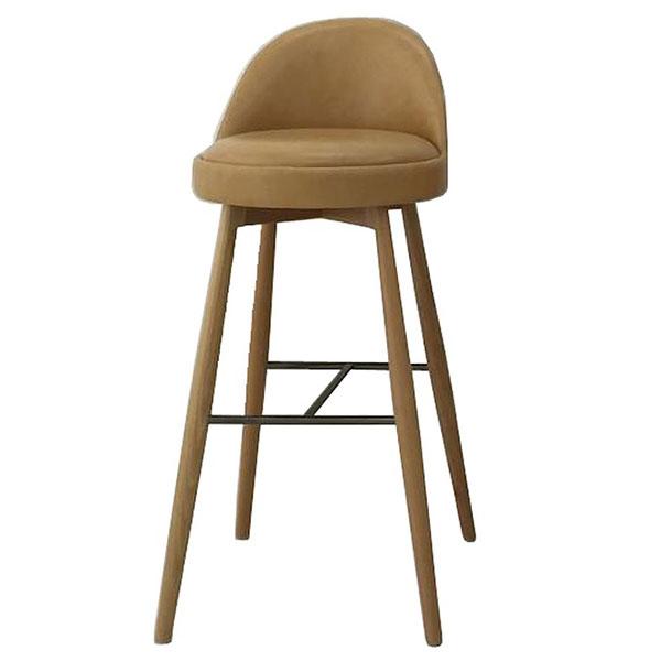 Ghế bar bọc da chân gỗ CH005
